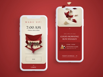 Harry Potter Howler  |  UI Alarm spells schedule alarm howler ui harrypotter illustration