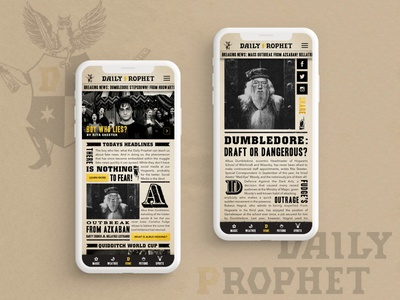 The Daily Prophet  |  UI Newsfeed wizarding world dumbledore newsfeed wizard dailyprophet news ui harrypotter