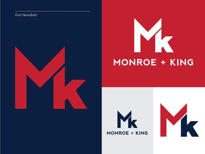 Monroe + King Athletic Co. 1/4 workout apparel women mk brand identity combine emblem branding atheltic logo