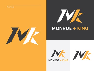 Monroe + King Athletic Co. 4/4 athletic logo yellow womens apparel shop shapes king athletic sharp logo geometic
