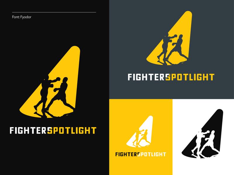 Fighters Spotlight (2 of 3) spotlight boxing fighters branding logo illustration