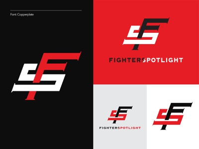 Fighters Spotlight (1 of 3) boxing spotlight fighters sf letters typography logo branding