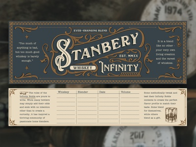 Stanbery Infinity Bottle alcohol typography infinity bottle design packaging whiskey