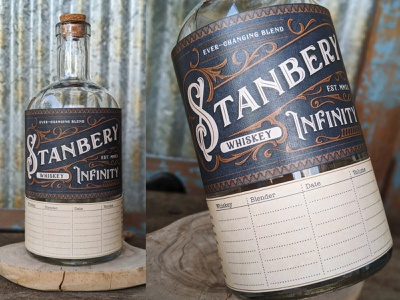 Stanbery Infinity Bottle - Photos typography packaging design alcohol packaging bottle design whiskey