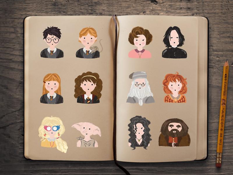 Harry Potter Characters magic orlando illustration illustration art potter harry hermione wizardingworld hogwarts wizard harrypotter