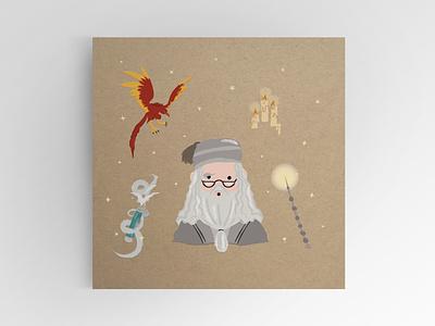 Albus Dumbledore design dumbledore albus wand harry wizard potter illustration harrypotter