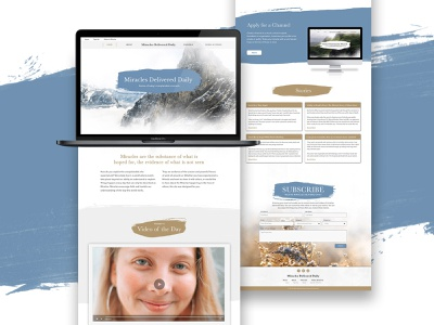Miracles Delivered Daily nonprofit miracles webdesign web design