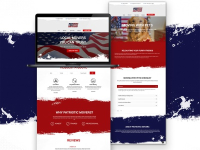 Patriotic Movers movers patriotic moving company webdesign design code html5 web