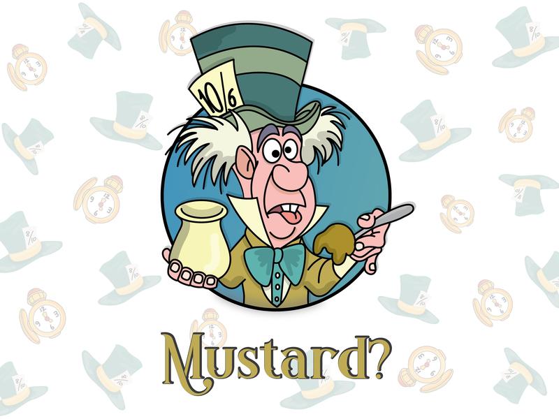 Mustard? mad disney madhatter mustard aliceinwonderland illustration