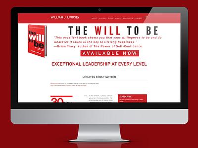 WillJLindsey.com Website red white black gray book author nathan allotey houston