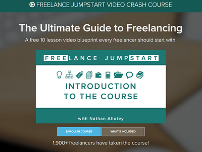 Freelance Jumpstart Course Website Redesign freelance business free quote blog nathan allotey branding digital design