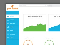 Dashboard design for Pow Spaces