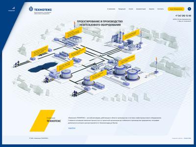 Website company «Tekhnoteks»