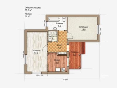 2D plan cottage