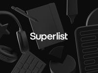 Hello Superlist ⚡ c4d landing page hero image todo renders items render 3d design branding illustration