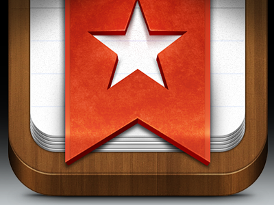 Wunderlist Icon wunderlist app icon ios iphone ipad wood ribbon djea whoa red velvet paper tasks star