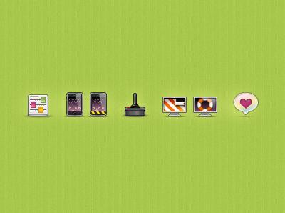 Web Icons 2 web icons green goblin arcade pixel customize mobile beta joystick game wallpaper screensaver like 77cc33