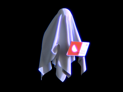 Ghost with the most presentation deck pitch motiongraphics 3d animation ipad templates ghost halloween octanerender character character design 3d