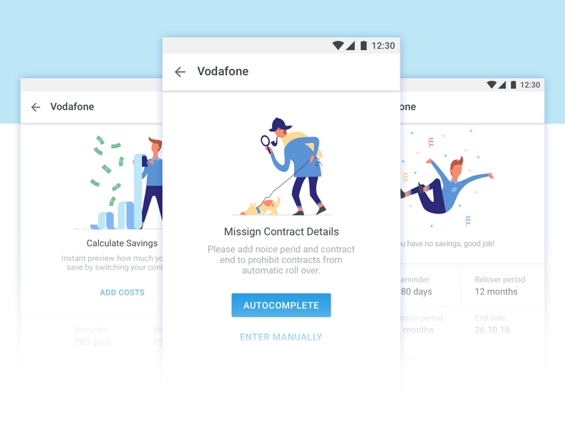 App Illustrations ios android app illustration vector explainer graphics dog character design search product illustration onboarding