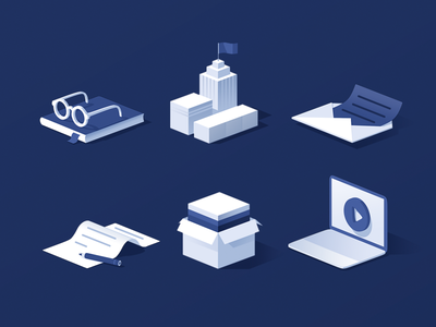 Isometric Icons devices box cubes 3d icondesign icons isometric