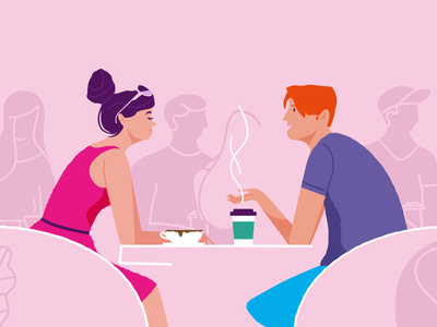 Coffee time coffee artwork illustration design career vector illustrator animations story boards character design