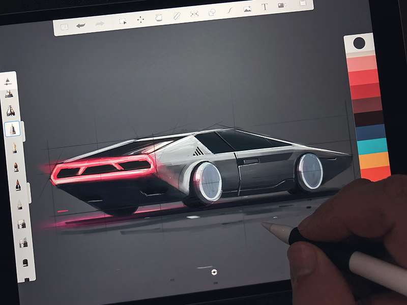 Late Nite Doodle sketch car behind the scenes drawing sketchbook futuristic vehicle conceptdesign doodle ipadpro ipad