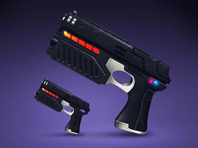 Lawgiver icon osx illustration purple gun laser judgedredd comicbook 5e3399