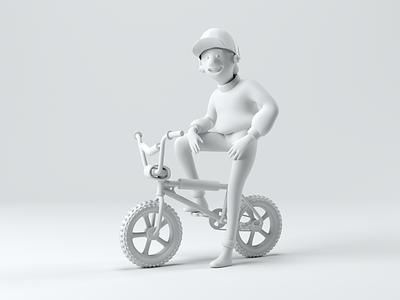 BMX KID hero image octane bike retro c4d 80s characterdesign octanerender render cinema4d 3d