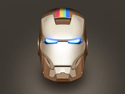 Instarkgram Icon icon illustration instagram comic ironman head character
