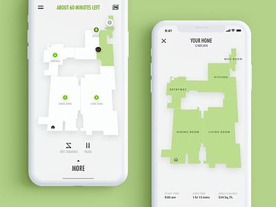 House Map in Roomba's Algorithm visual design interaction design motion design 2d vector animation interface design ux ui app mobile concept digital clean minimal flat