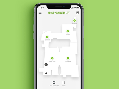Edit Room Cleaning Sequence Flow cleaning maps map visual design motion design interaction design 2d vector animation interface mobile concept digital app ux ui clean minimal flat