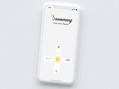 Swipe-Based Login Screen login new innovative concept interface minimal visual design flat clean mobile app design ui ux