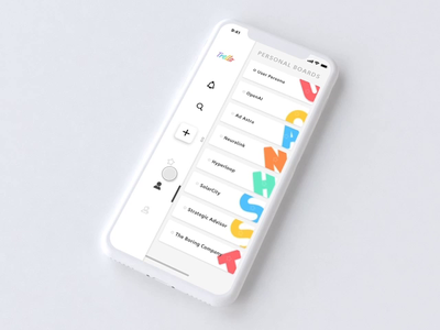 Siderail Nav FAB | Create New Board new innovative 2d visual design mobile design app concept digital ux ui clean minimal flat
