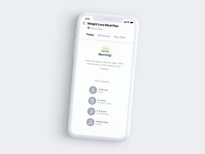 Prescription-turned-to-UI Weight Loss Meal Plan minimal digital app design mockup ux flat mobile design visual design ui app