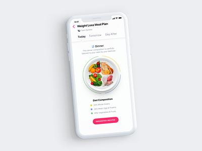 Dietician Prescription food minimal digital flat clean visual design mobile design ux ui app