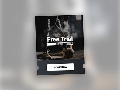 Free Trial Module — Dark free trials trial digital minimal flat clean visual design mobile design ux ui app