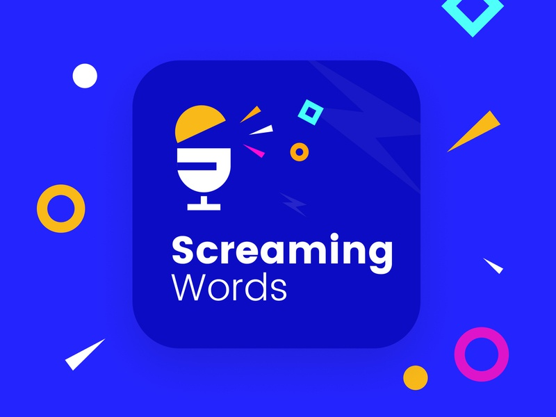 Screaming Word Logo Design