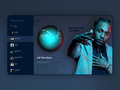 Web Music Player player sound music app music player music web uidesign design website interaction webdesign animation ui motion