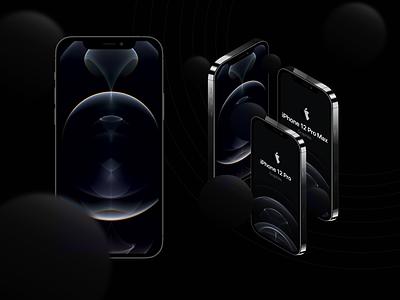 iPhone 12 Pro 3d Editable Mockups Free Download iphone apple vector freebie free figma mockups mockup