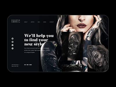 Tattoo Master's Website ui website black uidesign design webdesign interaction animation motion tattoo design tattoo