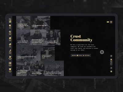 Pizza Community uidesign pizza minimal food e-commerce black website interaction webdesign animation ui motion