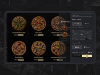 Pizza Checkout checkout uidesign pizza food e-commerce design black website interaction webdesign animation ui motion