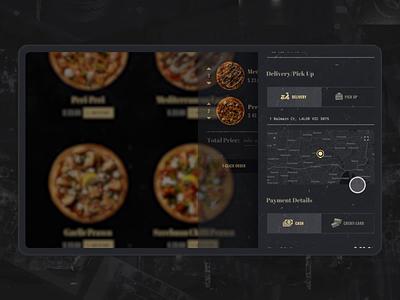 Pizza Trucking & Game game trucking uidesign pizza food e-commerce design black website interaction webdesign animation ui motion