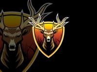 Deer Esport Mascot character Logo Design