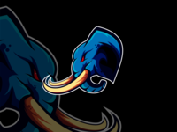 Giant Elephant Esport Mascot Logo Design