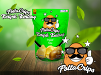 Pottacrips - potato chips Logo & Packaging Design