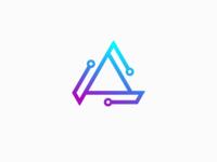 Letter A Logo - System Network Logo Design