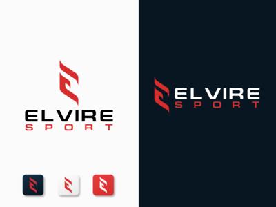 Letter E Logo - Elvire Sport