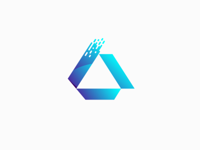 Letter A Logo 3D