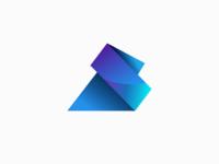 Letter AS 3D Logo